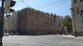 Kompakt Příbram - Rekonstrukce domu, Křižovnická ulice, Praha 1