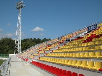 Stadión FK Marila Příbram - východní tribuna - II. etapa -