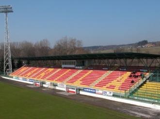 Stadion FK Marila Příbram - severní tribuna -